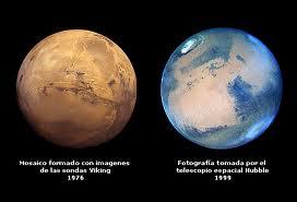 Los colores originales de Marte y su atmósfera