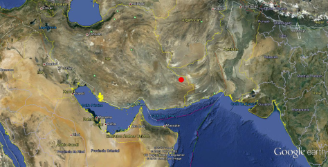 Terremoto 7.7 frontera Irán-Pakistán 16.04.13