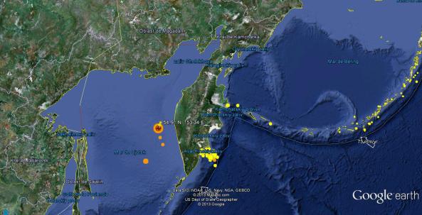 Terremoto 8.3 Mar de Ojotsk - 24.05.13