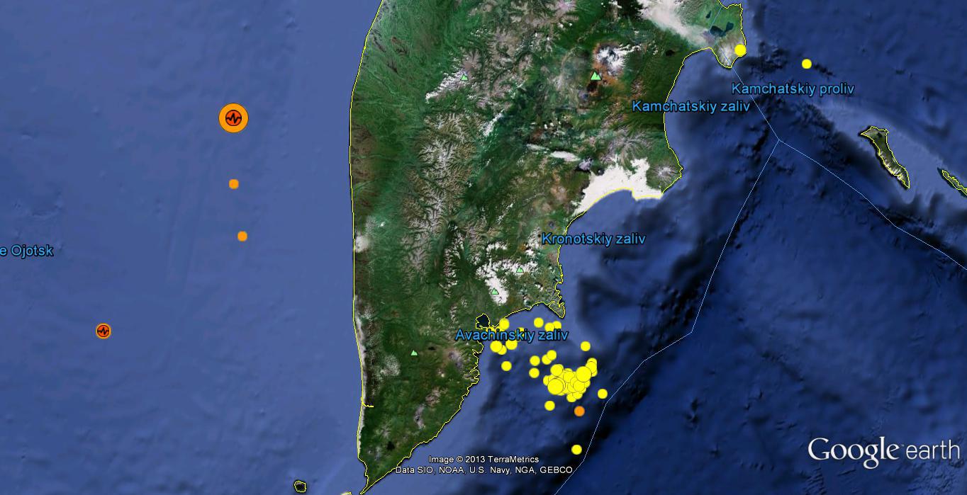 Terremotos Península de Kamchatka - Rusia