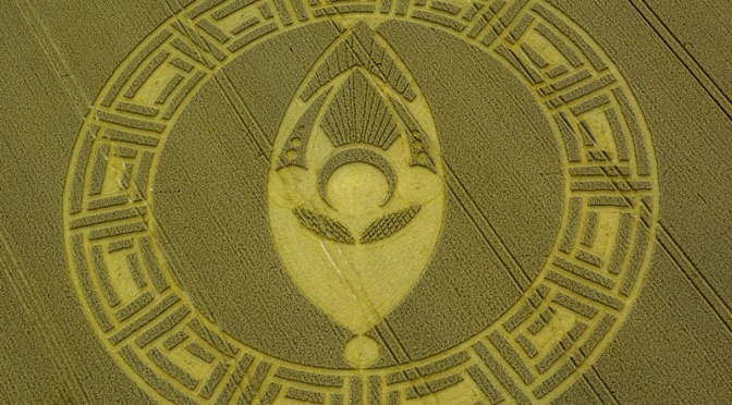 CROP CIRCLE Cooks Plantation, nr Beckhampton, Wiltshire, United Kingdom. Reportado 23 Agosto