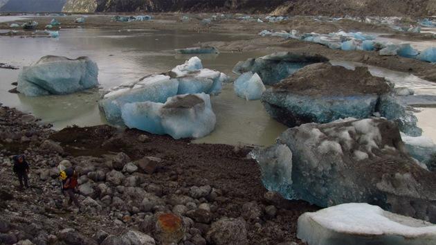 Desaparece un enorme lago chileno